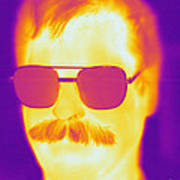 Thermogram Of A Man Art Print