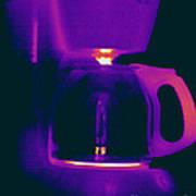 Warming Coffee Machine Art Print