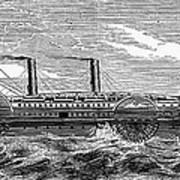 4 Wheel Steamship, 1867 Art Print