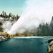 Yellowstone Park: Geyser Art Print