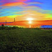 49- Electric Sunrise Art Print