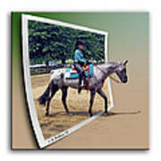 4h Horse Competition Art Print