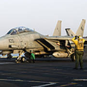 An F-14d Tomcat In Launch Position Art Print
