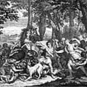 Atalanta And Meleager Art Print