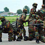 Belgian Paracommandos Entering Art Print by Luc De Jaeger