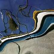 Boat Reflections At Sea Art Print