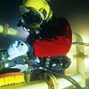 Commercial Diver Art Print