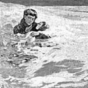 Dakota Blizzard, 1888 Art Print