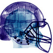 Football Helmet, X-ray Art Print