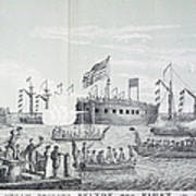 Fulton Steam Frigate, 1814 Art Print