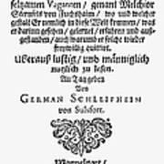 Hans Von Grimmelshausen Art Print