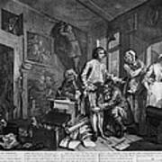 Hogarth: Rakes Progress Art Print