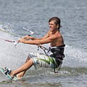 Kite Boarding Print by Jeanne Andrews