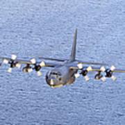 Mc-130p Combat Shadow In Flight Art Print
