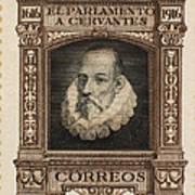 Miguel De Cervantes Art Print