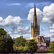 Norwich Cathedral Norfolk England Art Print