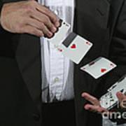Shuffling Cards Art Print