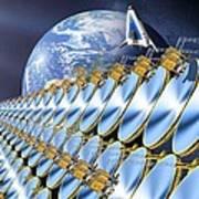 Solar Power Satellite, Artwork Art Print