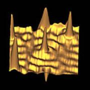 Spintronics Research, Stm Art Print by Drs A. Yazdani & D.j. Hornbaker