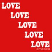 5 Steps Of Love Art Print