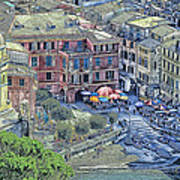 5 Terre Vernazza Landscape Art Print