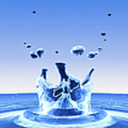 Water Drop Impact Art Print by Pasieka