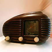 50's Radio Art Print by Alessandro Della Pietra