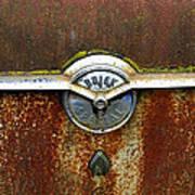 54 Buick Emblem Art Print by Steve McKinzie