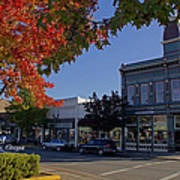 5th And G Street In Grants Pass With Text Art Print