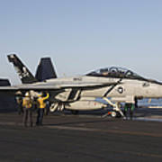 An Fa-18f Super Hornet During Flight Art Print