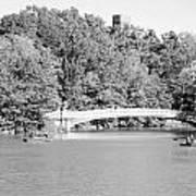 Bow Bridge In Black And White Art Print