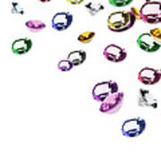 Colorful Gems Art Print