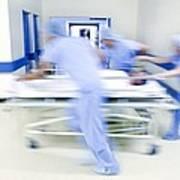 Emergency Hospital Treatment Art Print