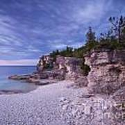 Georgian Bay Cliffs At Sunset Art Print