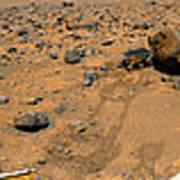 Panoramic View Of Mars Art Print