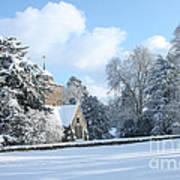 Snowy Scene In England Art Print