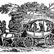 Stagecoach, 19th Century Art Print