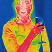Thermogram Of A Woman Art Print