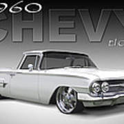 60 Chevy El Camino Art Print by Mike McGlothlen