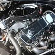 67 Black Camaro Ss 396 Engine-8033 Art Print