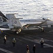 An Fa-18e Super Hornet During Flight Art Print
