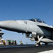 An Fa-18f Super Hornet Launches Art Print