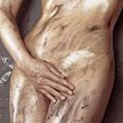Beautiful Soiled Naked Woman's Body Art Print