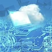 Cloud Computing, Conceptual Artwork Art Print