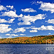 Fall Forest And Lake Art Print by Elena Elisseeva