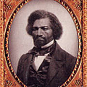 Frederick Douglass African-american Print by Photo Researchers