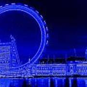 London Eye Art Art Print
