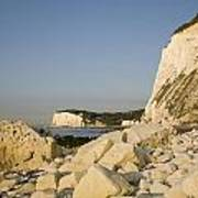 Morning At The White Cliffs Of Dover Art Print