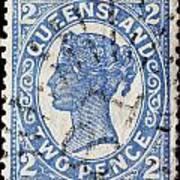 old Australian postage stamp Art Print