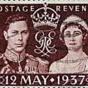 old British postage stamp Art Print